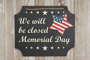 HM Cragg Closed for Memorial Day