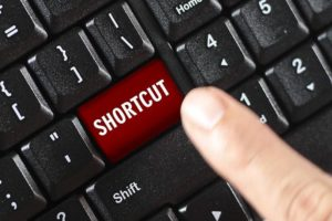 Shortcut key on keyboard