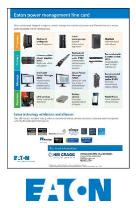 Eaton Power Management Line Card