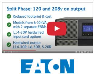 Eaton's 9PX Split-Phase Double Conversion UPS