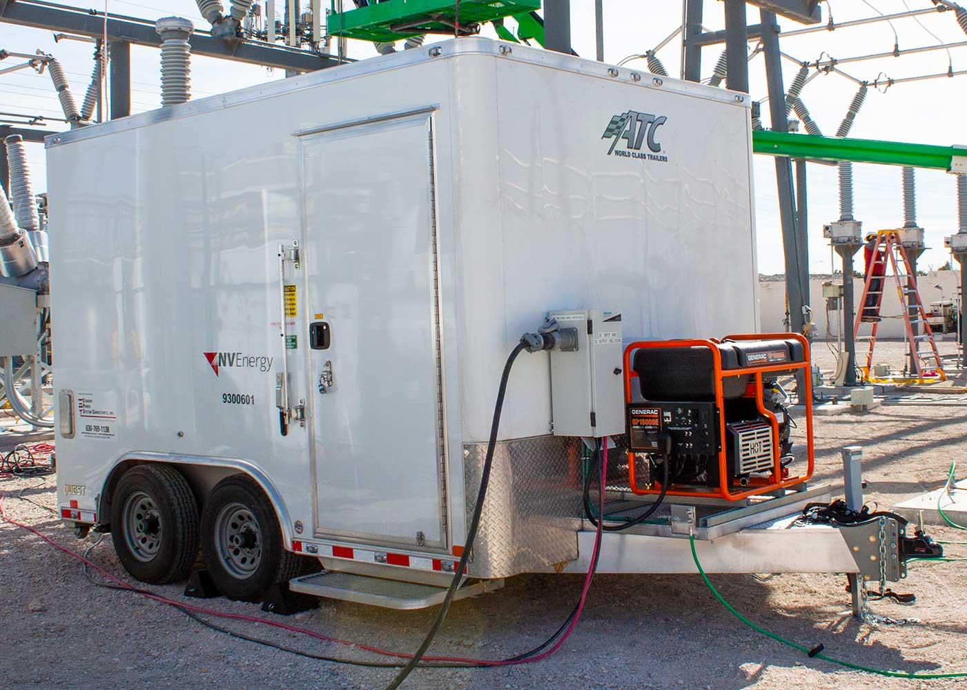 Mobile DC Power Trailer, Exterior, HM Cragg
